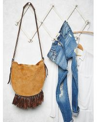 Free People Brown Melbourne Messenger - Lyst