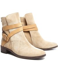 See By Chloé Ankle Boot with Crossover Strap - Lyst