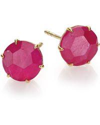Ippolita Rock Candy Ruby & 18K Yellow Gold Stud Earrings - Lyst