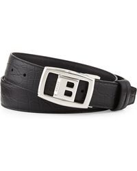 Bally Croc-embossed Reversible Belt - Lyst