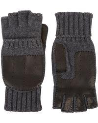 Barneys New York Leather-palm Fingerless Gloves - Lyst