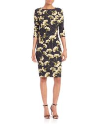 Carolina Herrera | Carnation-print Techno Dress | Lyst