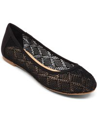 Lucky Brand Elisabetr Perforated Fabric Flats - Lyst