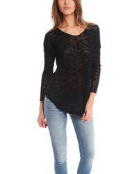 Helmut Lang Irregular Silk Pullover In Black - Lyst