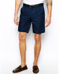 Asos Slim Fit Shorts In Navy - Lyst