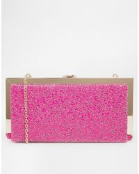Oasis Gold Frame Detail Box Clutch Bag with Chain Strap - Lyst