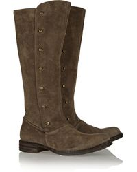 Fiorentini + Baker Epi Brushed Suede Knee Boots - Lyst