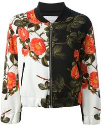 The Textile Rebels Floral Print Bomber Jacket - Lyst