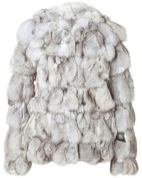 Matthew Williamson Fox Fur Jacket - Lyst