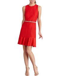 Donna Morgan Knit Drop Waist Dress - Lyst