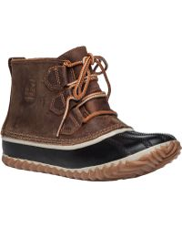 Sorel | Out N About Leather Ankle Boots | Lyst