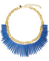 Kenneth Jay Lane Tapered Bead Chain Necklace - Lyst