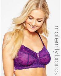 da4bd57306a Hotmilk - Maternity Chic Nursing Bra - Purple - Lyst