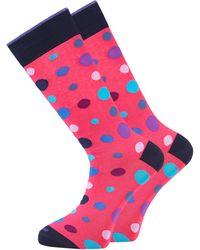 Duchamp - Pink Spot Socks - Lyst