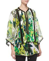 Roberto Cavalli Kimono-sleeve St Barths Printed Tunic - Lyst