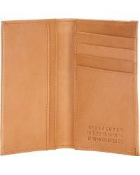 Maison Martin Margiela Foiled Folding Card Case - Lyst