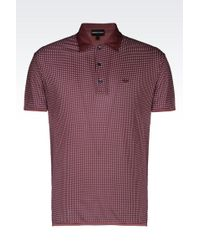 Emporio Armani Polo Shirt In Printed Jersey - Lyst