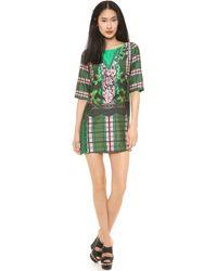 Emma Cook Green Shift Dress - Lyst