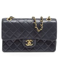 Chanel Preowned Lambskin Small Double Flap Bag - Lyst