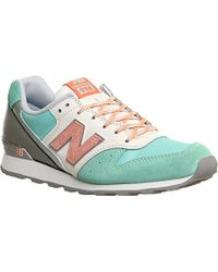 New Balance 996 Suede And Textile Trainers - For Women - Lyst