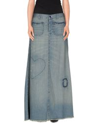 Twin-Set Jeans Denim Skirt blue - Lyst