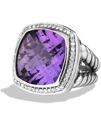 David Yurman - Albion Ring With Amethyst & Diamonds - Lyst