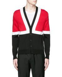 Alexander McQueen | Colourblock Intarsia Cotton Sweater | Lyst