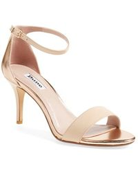 Dune | Mariee Metallic Leather Sandals | Lyst
