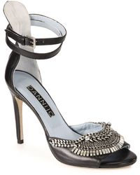 DANNIJO - Rina Crystal & Chain Leather Sandals - Lyst