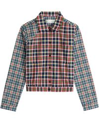 Victoria Beckham Cropped Cotton Shirt - Lyst