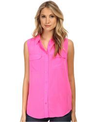 Equipment Sleeveless Slim Signature Top - Lyst