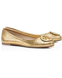 Tory Burch Perforated Reva Ballet - Lyst