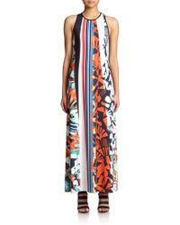 Clover Canyon Ink Strokes Printed Maxi Dress - Lyst