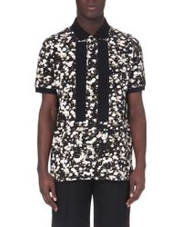 Givenchy Floral-Print Cotton Polo Shirt - For Men - Lyst