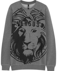 Versus  Printed Cottonblend Jersey Sweatshirt - Lyst