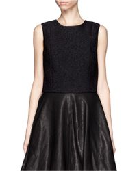 Thakoon Cloqué Cropped Shell Top - Lyst