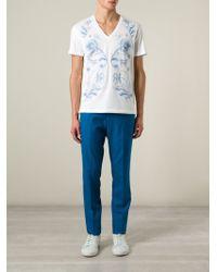 Alexander McQueen Straight Leg Trousers - Lyst