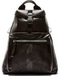 Lanvin Black Python Backpack - Lyst