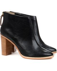 Ted Baker Leather Heeled Ankle Boots - Lyst