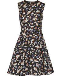 Erdem Edie Printed Cotton-blend Faille Mini Dress - Lyst