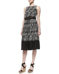 Tibi Embroidered Eyelet Party Skirt - Lyst