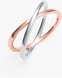 Bony Levy Women'S Crossover Open Ring - White Gold/ Rose Gold (Nordstrom Exclusive) - Lyst