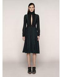 Proenza Schouler Long Sleeve Pleated Dress - Lyst