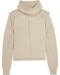 Chloé Wool Silk and Cashmere-blend Turtleneck Sweater - Lyst
