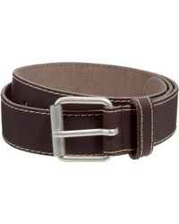 Asos Leather Belt with Edge Stitching - Lyst