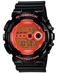 G-Shock Casio Men'S Orange Dial Digital Watch - Lyst