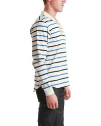 Shipley & Halmos - Toby Striped Polo - Lyst