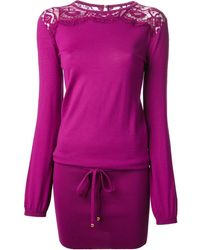 Emilio Pucci Pink Knitted Dress - Lyst