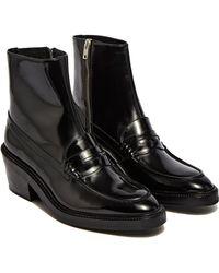 Yang Li - Women's Penny Loafer Ankle Boots In Black - Lyst