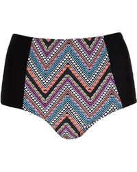 Forever 21 Tribal Print Highwaisted Bikini Bottom - Lyst